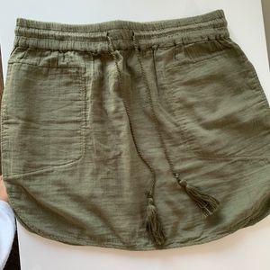 Aritzia Green Skirt